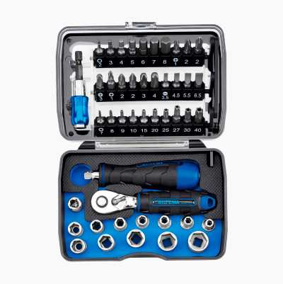 "Compact Socket Set ¼"", 46 parts"