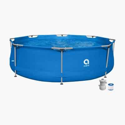 Rund pool med stålram