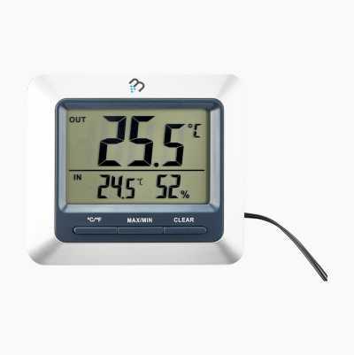 Termo-/hygrometer, inne/ute