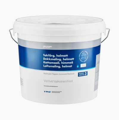 Ceiling paint, fully matt