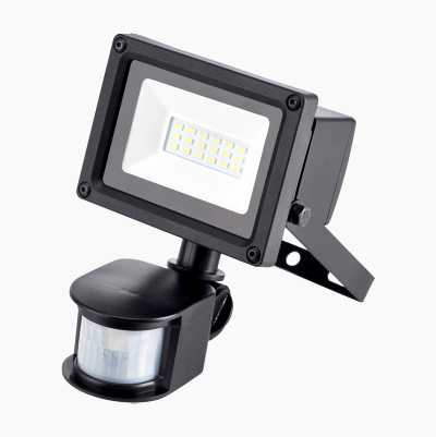 LED floodlight with motion detector