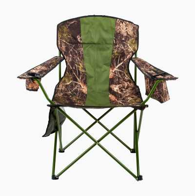 Fold-up chair with cooler bag