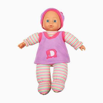 Blød dukke med lyd