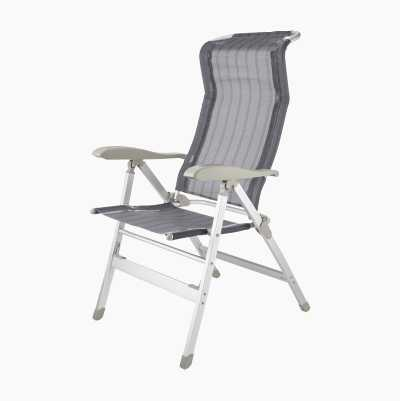 Camping chair with neck support