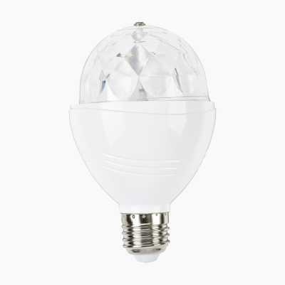 Roterende diskolampe LED, E27
