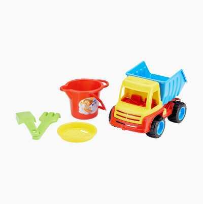 Lastbil och sandset