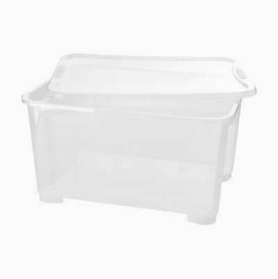 Storage box with lid