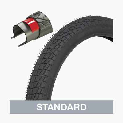 Bike tyre, extra reinforced. City/standard