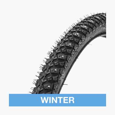 Studded tyres, bikes