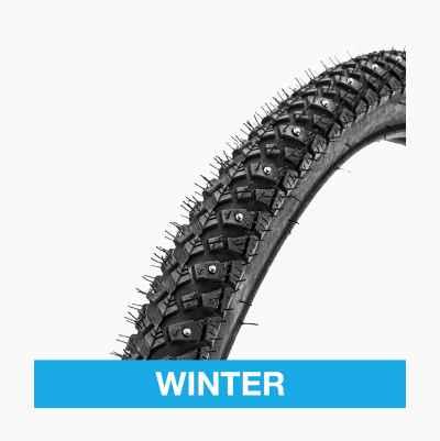 Studded tyres, bikes