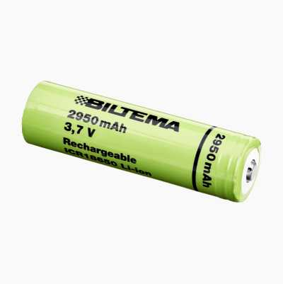 Rechargeable ICR18650 battery, 2950 mAh