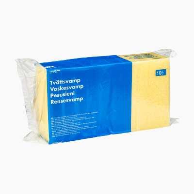 Tvättsvamp med vaxschampo, 10 st.