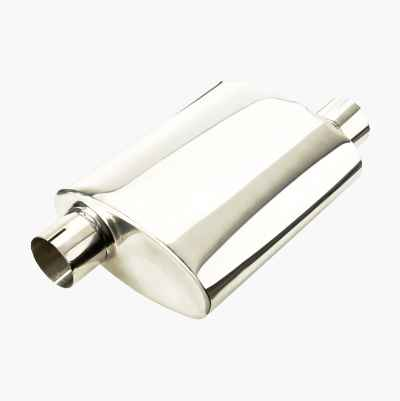 "OVAL MUFFLER 2,5""  STAINLESS P"