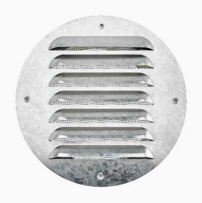 Ventilationsgitter, studstilslutning, rund