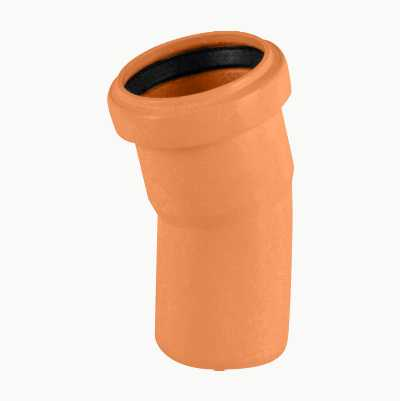 Elbow for ground drainage pipes