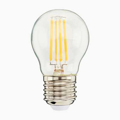 Mini-globe E27, dimmable, clear