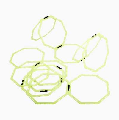 Octagonal rings, 12 pcs