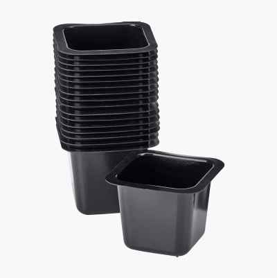 Plastic Pots, 18-pack