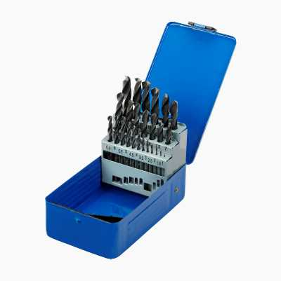 HSS Drill Bit Set, 25 bits