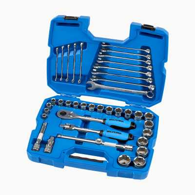 "Socket spanner set 1/2"", 40 parts"