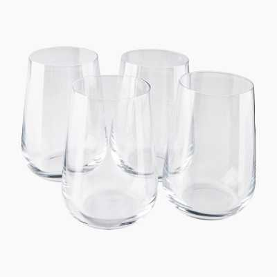 Crystal Glass Set, 4-pack