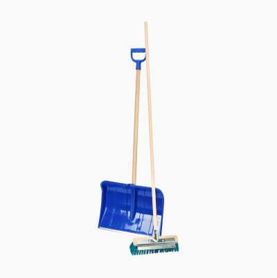 Snow Shovel and Broom