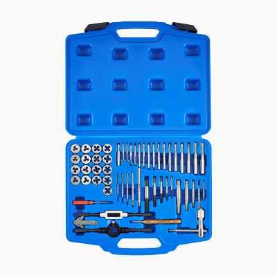Gängverktyg/skruvutdragarsats, 55 delar
