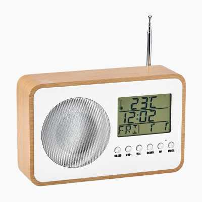Clock Radio with Thermometer