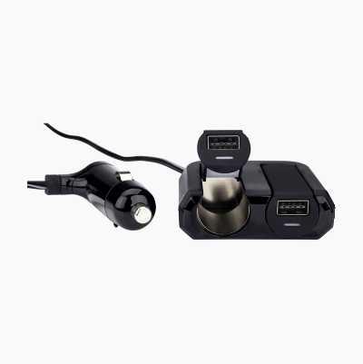 USB-lader og 12/24 V-udtag
