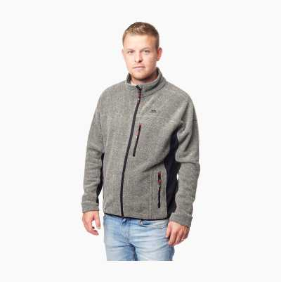 Striped Fleece Jacket, grey