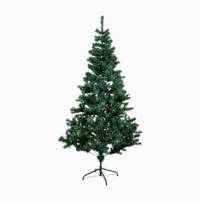Julgran med LED-belysning