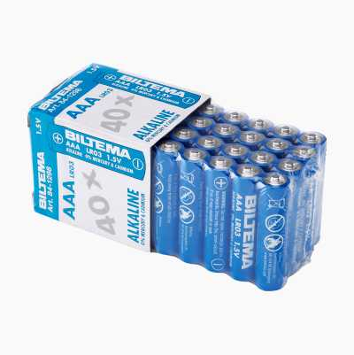 Alkalisk batteri, 40-pakning