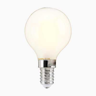 Minipallolamppu E14, huurrettu