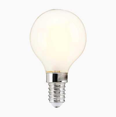 Miniglob E14, dimbar, frostet