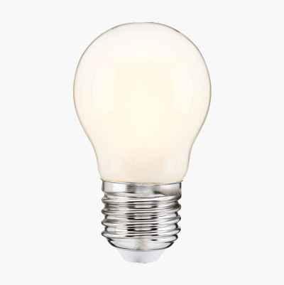 Miniglob E27, dimbar, frostet