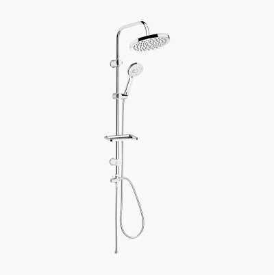 Overhead Shower Set, chrome, round