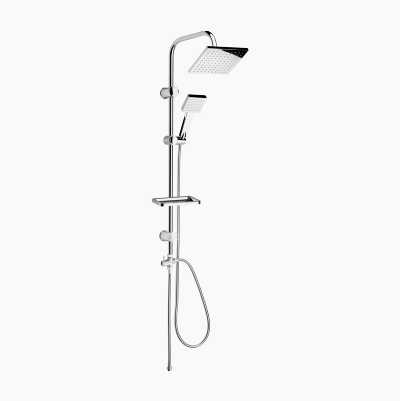 Overhead Shower Set, chrome, square