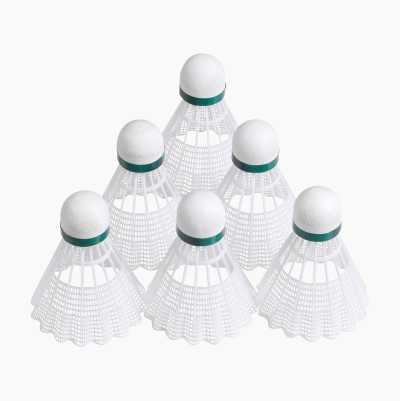Badminton Shuttlecocks, 6-pack
