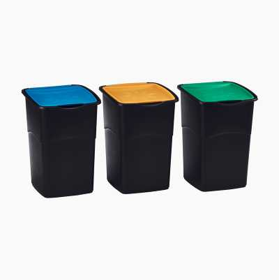 Recycling Bins, set of 3