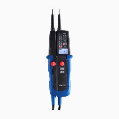 Voltage tester with residual current tester