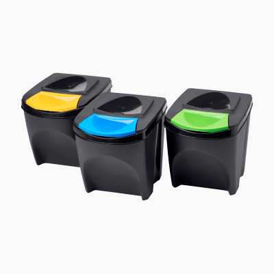 Waste Bins 25 l, set of 3