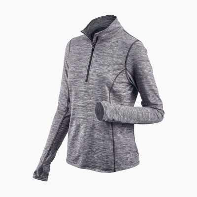 Ladies Workout Top, half zip