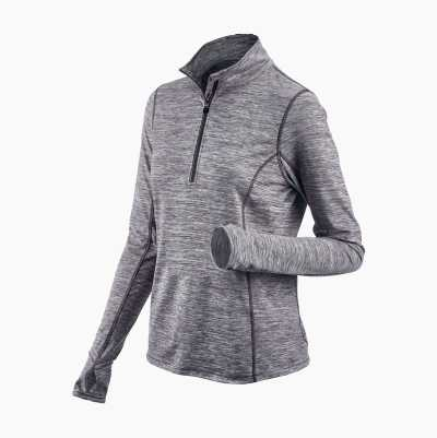 Ladies Workout Top, half zip