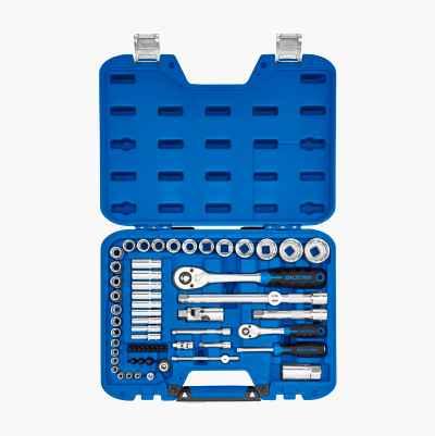 """Socket set 1/4"""" + ½"""", 59 parts"""
