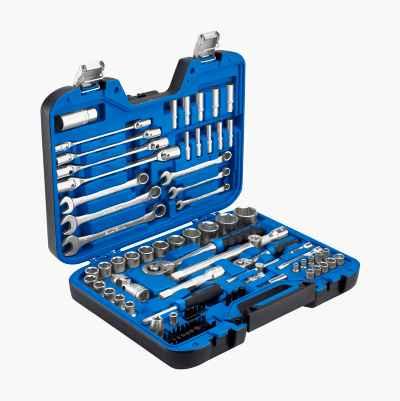 """Socket set 1/4"""" + ½"""", 89 parts"""