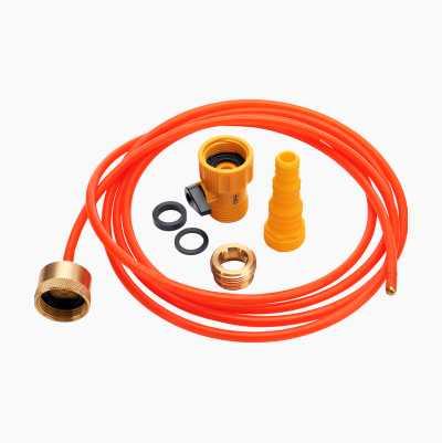 Flush hose with jet nozzle