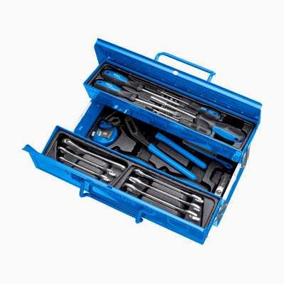 Værktøjskasse med værktøj, 43 dele