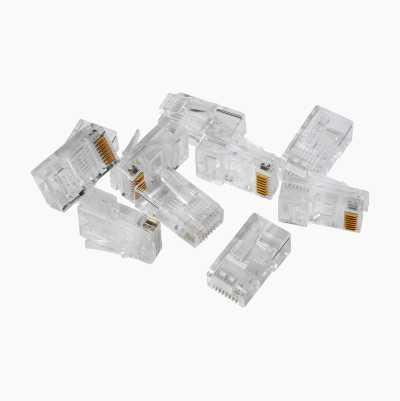 RJ45 connectors, CAT6 UTP, 10 pcs