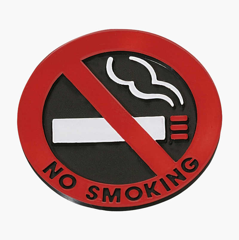 No Smoking Sticker, 2-pack