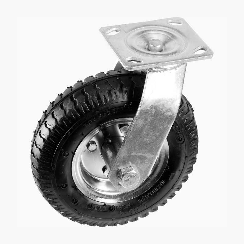 Svängbart luftgummihjul